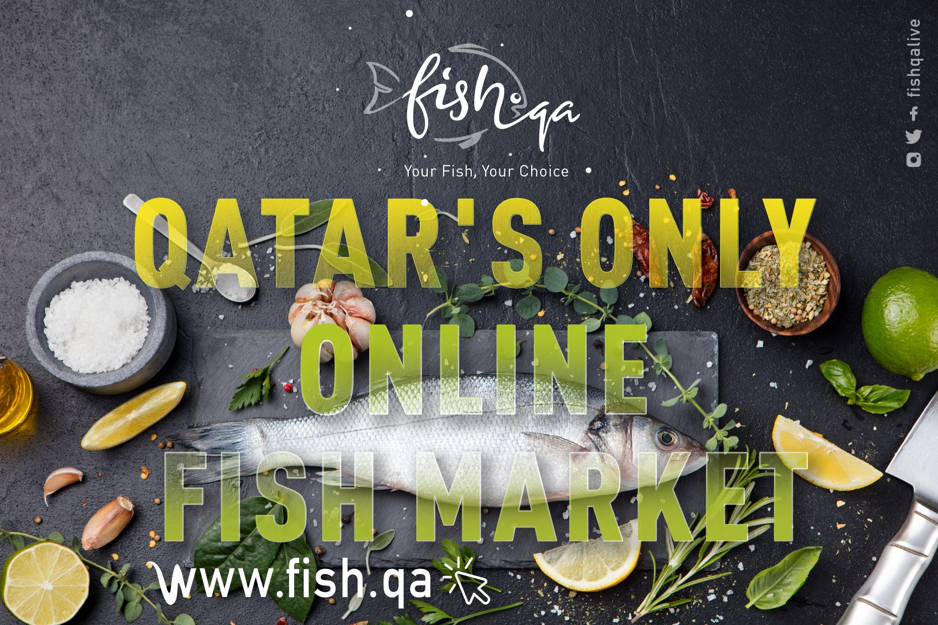 Order Fresh Daily Caught Seafood Online Visit Www Fish Qa Products Free Home Delivery Cash On Delivery Available Buy Fish Online Seafood Online Fish