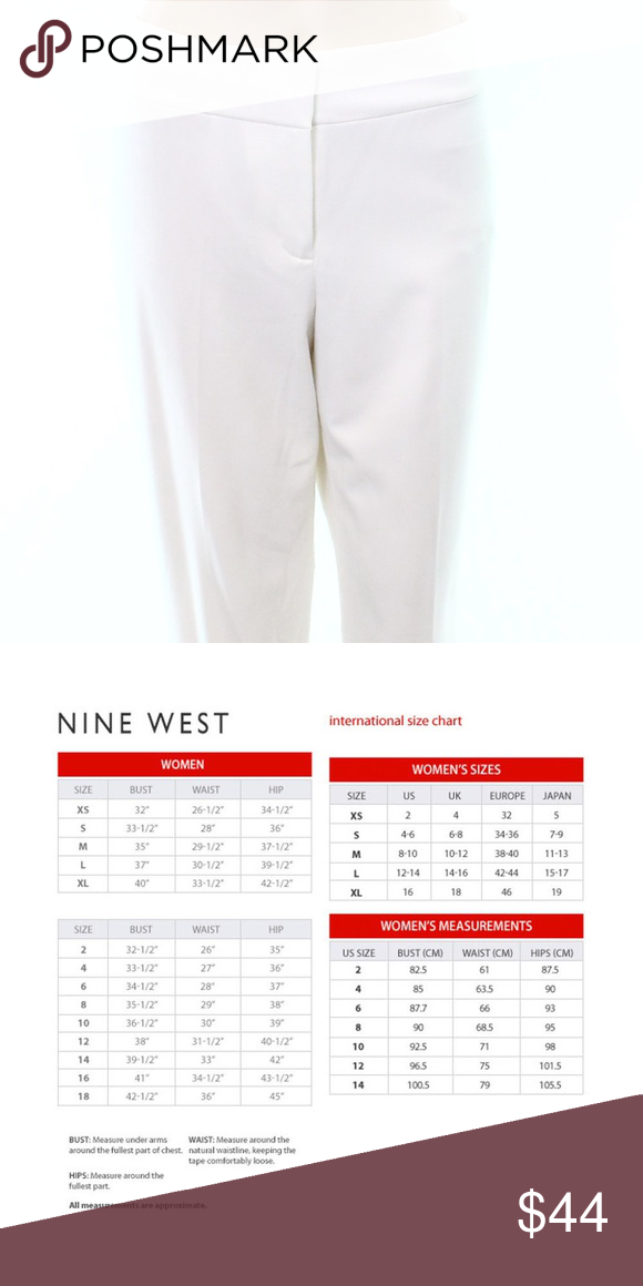 Nine West White Slim Ankle Dress Pants Size 10 Ankle Dress Pants Dress Pants Pants