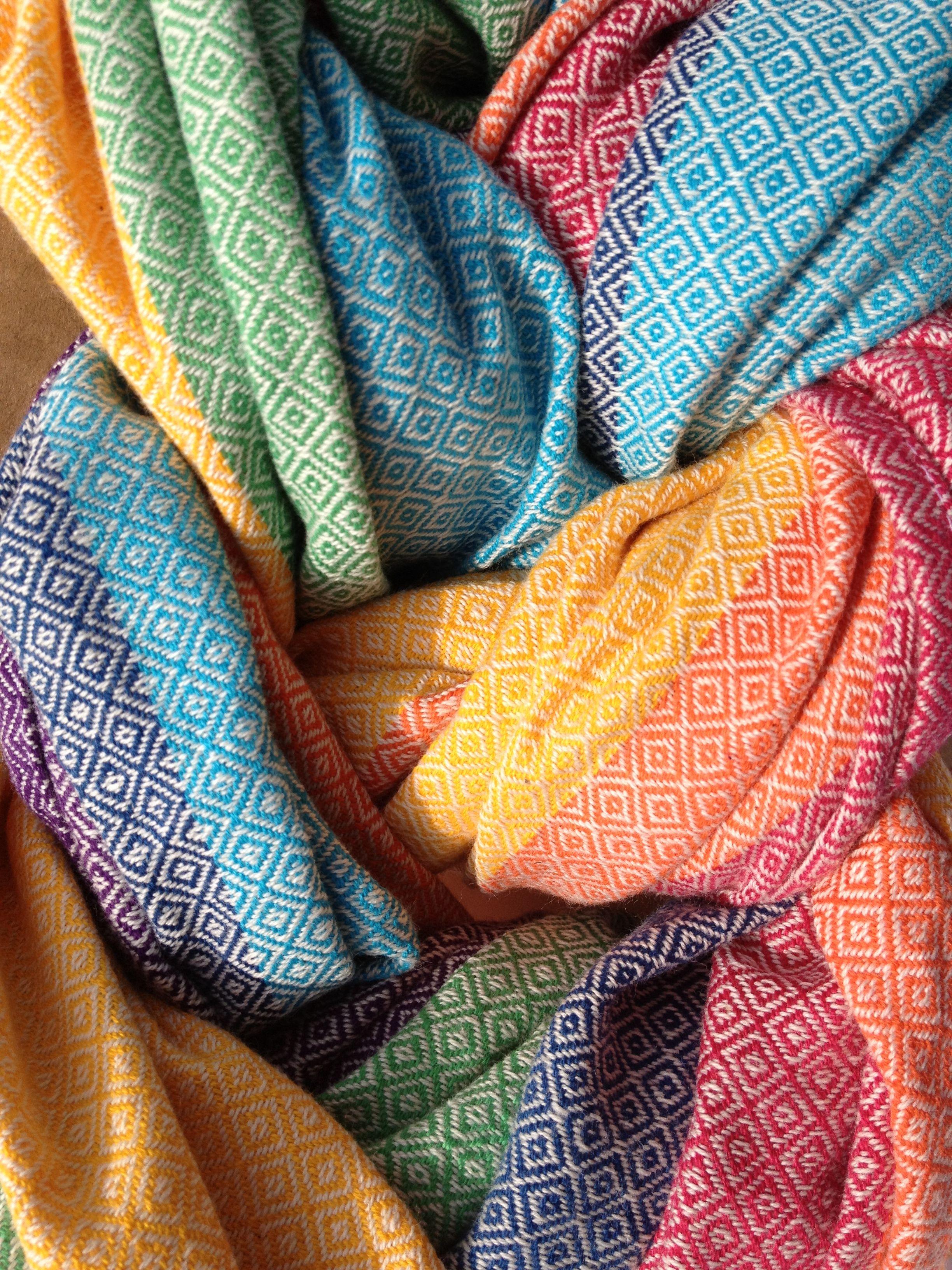daeda3c5d56 Girasol Diamond Weave Snow Rainbow  dream wrap  http   abbycoop.files