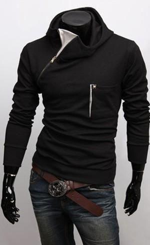 rivenditore di vendita 97535 db838 I found 'Korean Style Zipper Embellished Hooded Coats Black ...