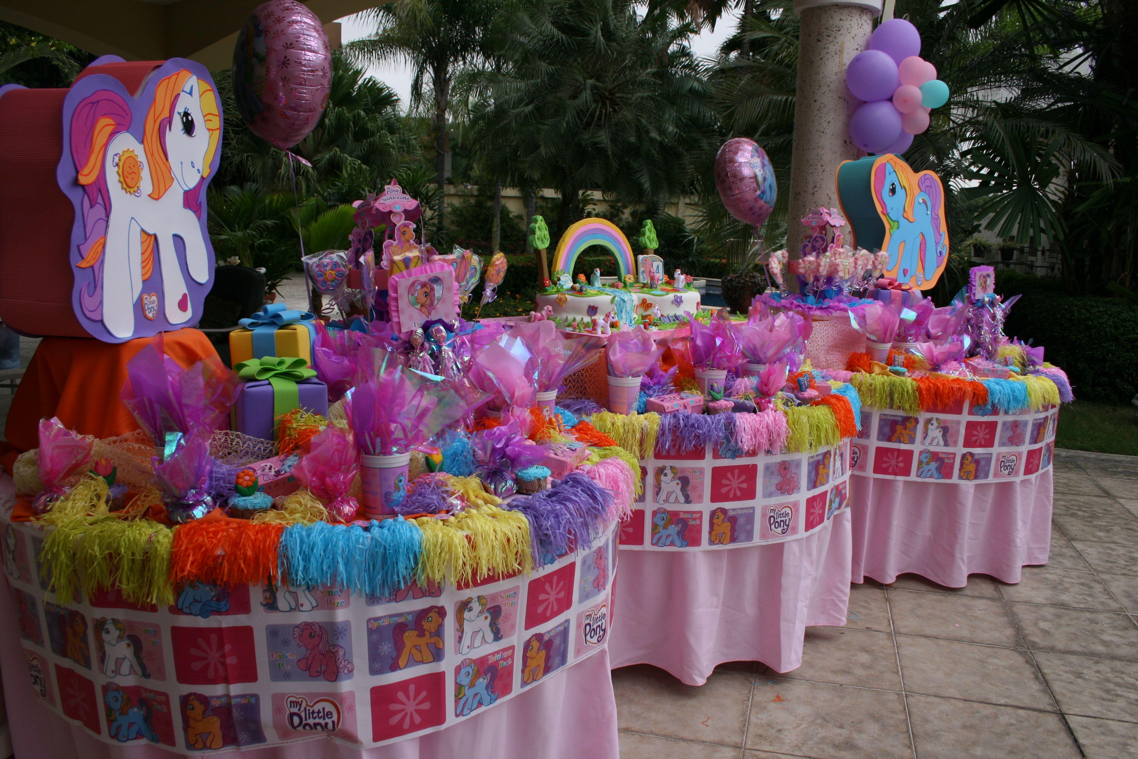 Decoracin De Fiesta Pequeo Pony Imagui