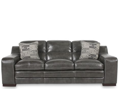 Simon 6984 30 Simon Li Leather Stampede Charcoal Sofa Mathis