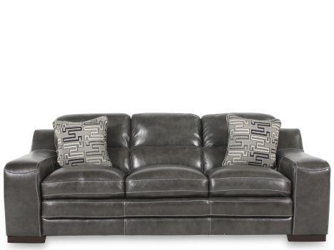 simon698430 simon li leather stampede charcoal sofa mathis brothers furniture - Simon Li Furniture