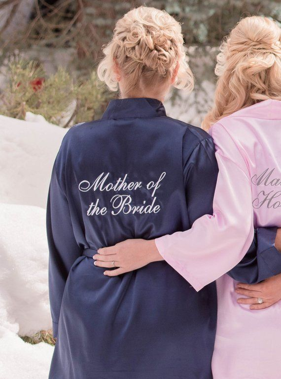 cc4b9bed3ab75 Mother of the Bride Robe, Mother of the bride satin robe gift, Satin bridal  party robe, Mother of th