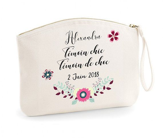 """Wedding Witness Gifts: Case For Wedding Witness French Quote """"Témoin Chic Témoin"""