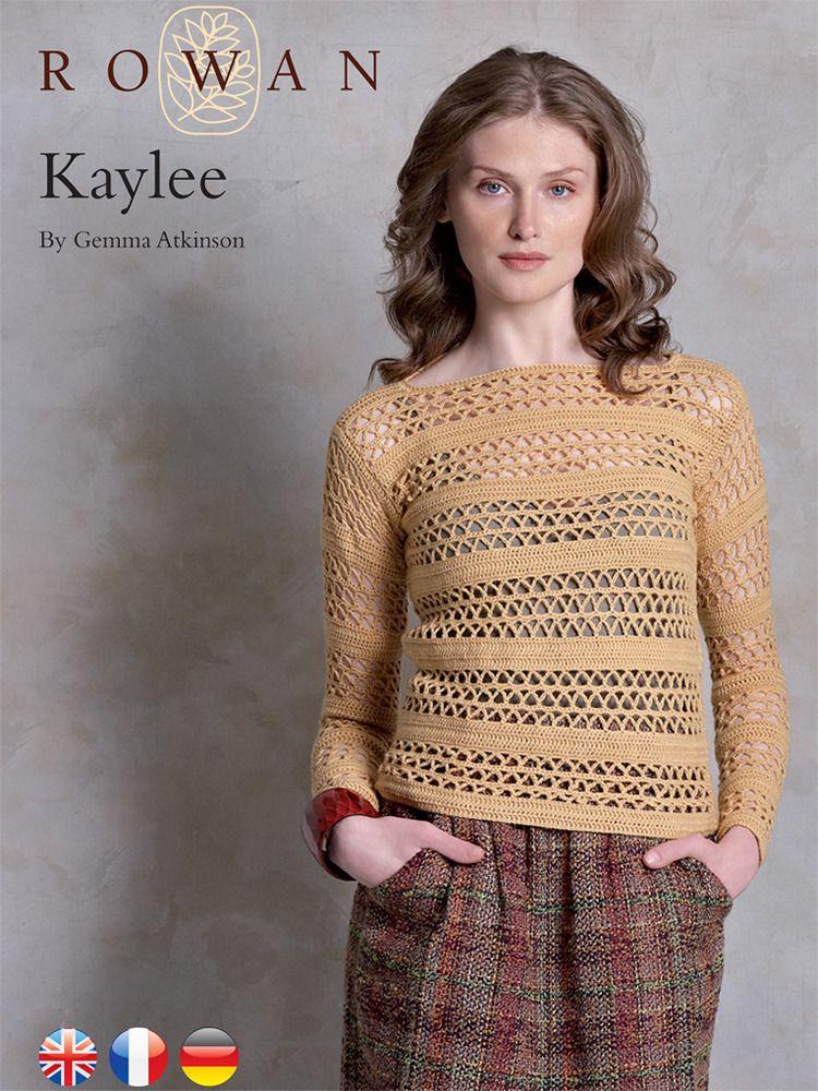 Kaylee Pullover In Rowan Pure Wool 4 Ply Free Crochet Pattern