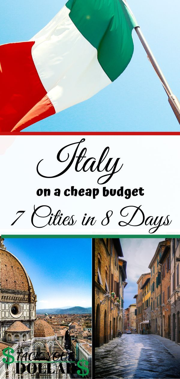 Here's everything you need to know about planning a trip to Italy destinations. We will go over an Italy budget itinerary that affords you the ability to experience 7 amazing cities in only 8 days! This one week Italy itinerary includes destinations such as Lucca, Rome (be sure to visit the basilica di san pietro in vaticano!). Be sure to check out how we were able to see The Colosseum for FREE! #budgetitaly #italyonabudget #europe #stackyourdollars #budgettravel #italytips #traveltips #italy