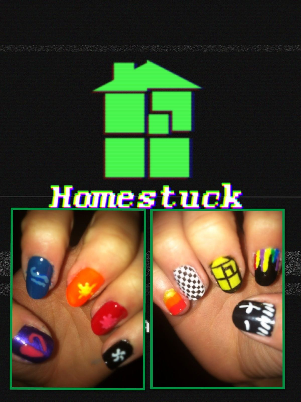 Any homestuck fans? Here\'s some nail art :D | Nail art | Pinterest