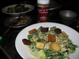 Creamy Caesar Salad with Parmesan Encrusted Pine Nuts #meltingpotrecipes