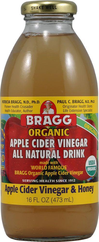 Bragg Apple Cider Vinegar All Natural Drink Organic Apple