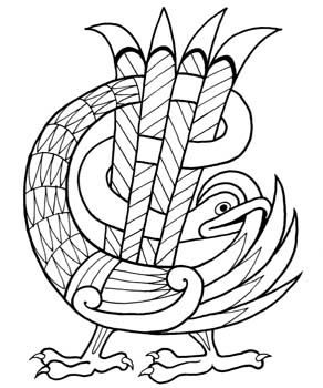 Book of kells bird scroll saw bandsaw pinterest for Book of kells coloring pages