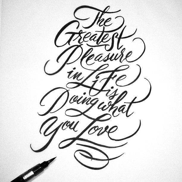 Pentel brush pen writing calligraphy lettering