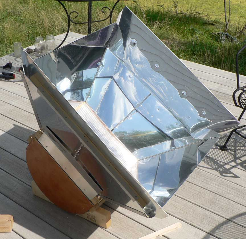 Antiquity Oaks -- front of our solar oven