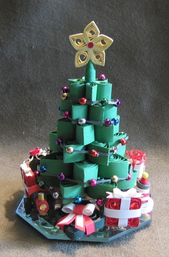 Christmas tree designed and made by Cathy Schlim FILIGRANA - 3D