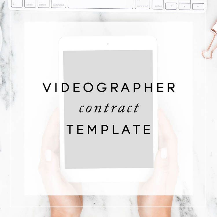 Videographer Contract Template - videography contract template
