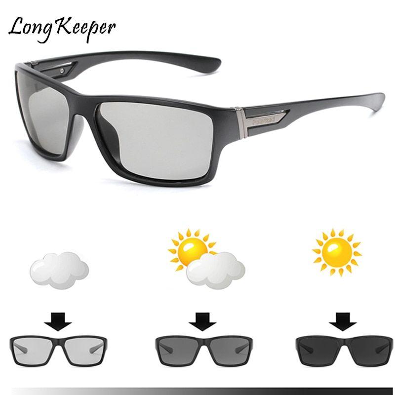 2018 brand photochromic sunglasses men polarized chameleon