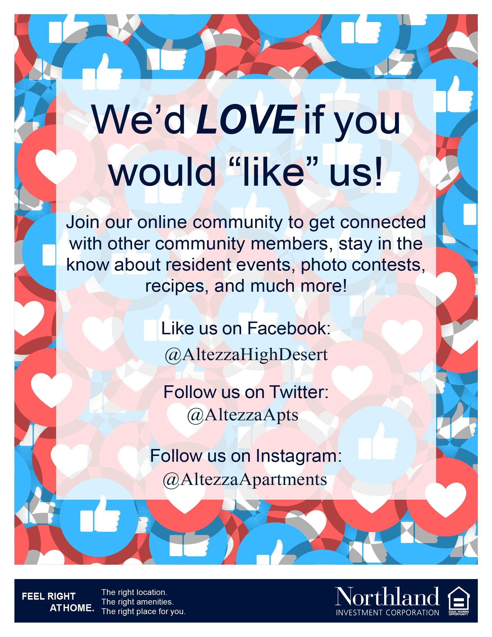 We Would Love If You Would Like Us Join Our Online Community To