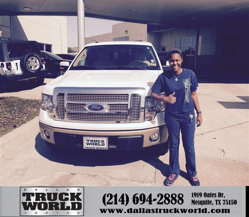 https://flic.kr/p/FaNP4y | Happy Anniversary to Sara on your #Ford #F-150 from Harold Bennett at Dallas Truck World! | deliverymaxx.com/DealerReviews.aspx?DealerCode=WDBL