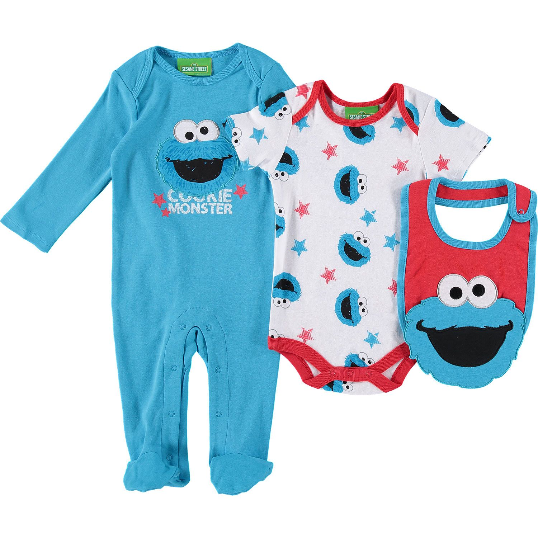 Quot Sesame Street Quot Three Piece Cookie Monster Clothes Set