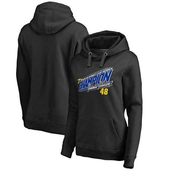 Jimmie Johnson Fanatics Branded Women's 2016 Sprint Cup Champion Ignition Pullover Hoodie - Black - $59.99