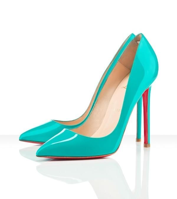 84ccb8e5505 CL69$ on | Christian Louboutin | Turquoise shoes, Turquoise heels ...