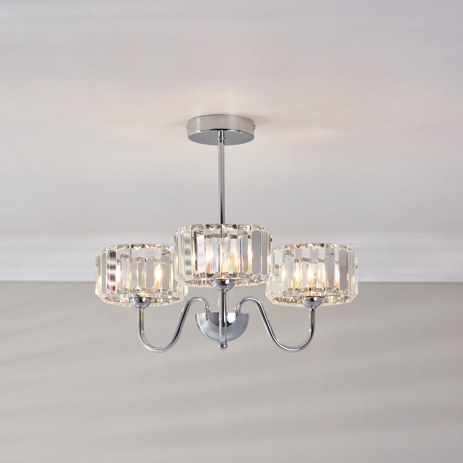 lounge ceiling lighting. Isla 3 Light Fitting Chrome Lounge Ceiling Lighting T