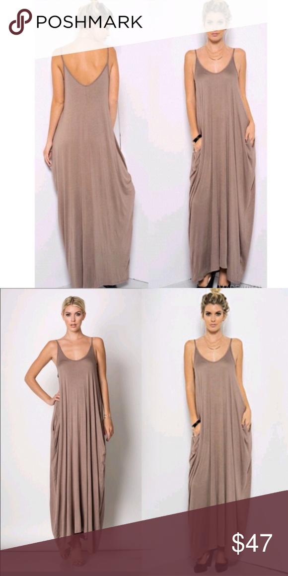 Womens Harem Maxi Dress with Pockets