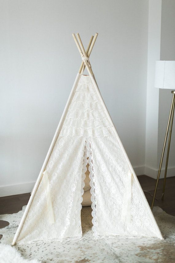 Glamour Lace teepee tent/kids teepee Play tent/ girls lace Tipi Wigwam or Playhouse ruffle photo prop tent & Designer talk: ···················· The ...