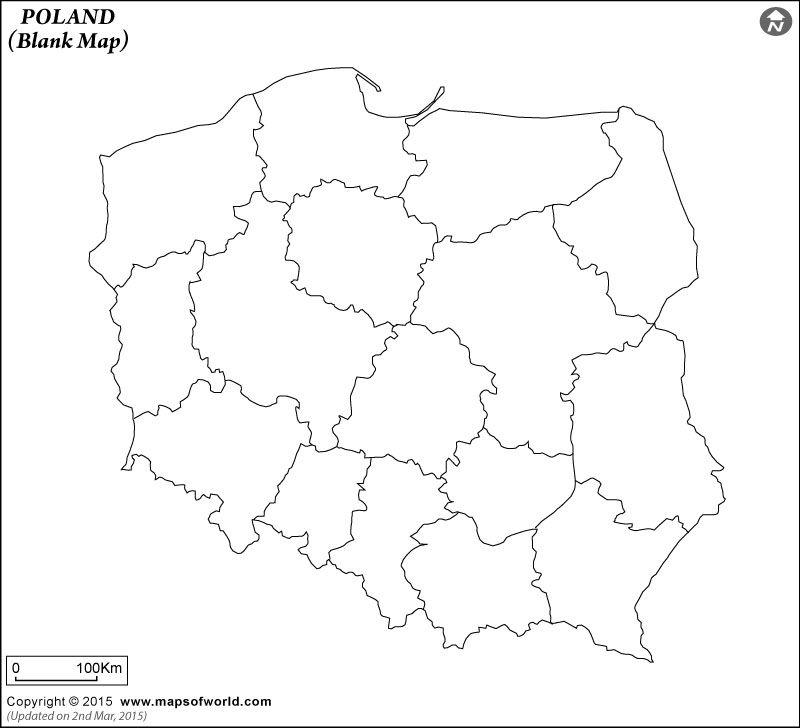 Podzial Administracyjny Polski Mapa Konturowa Mapa Do