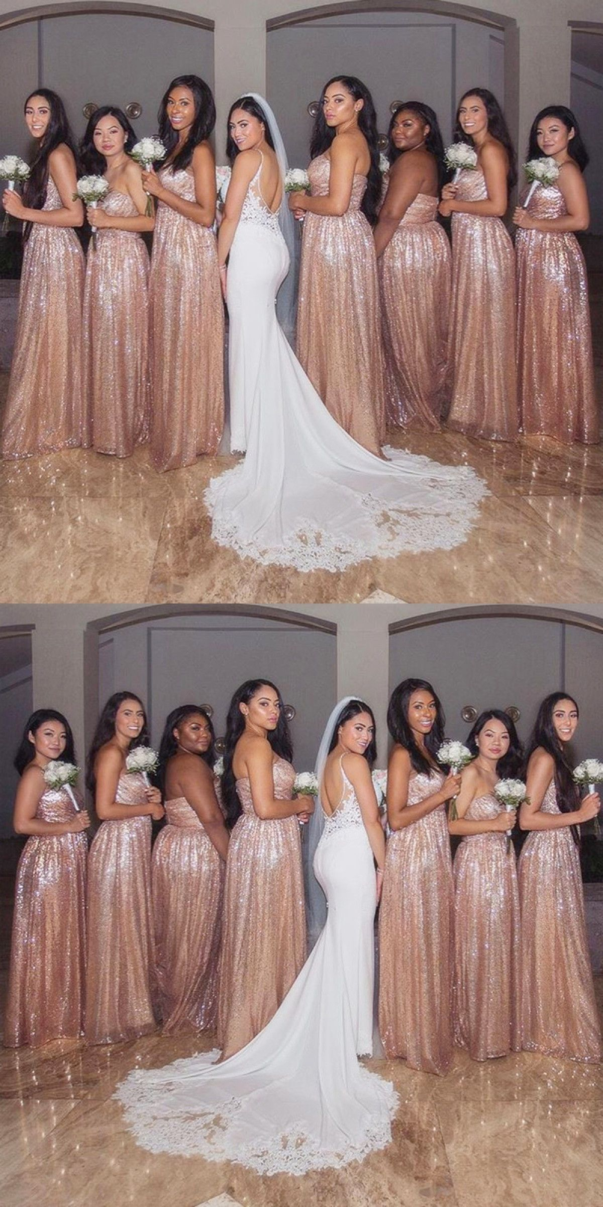 Sweetheart Bridesmaid Dresses Rose Gold Bridesmaid Dresses Long Sequ Rose Gold Sequin Bridesmaid Dress Sequin Bridesmaid Dresses Long Gold Bridesmaid Dresses [ 2400 x 1200 Pixel ]