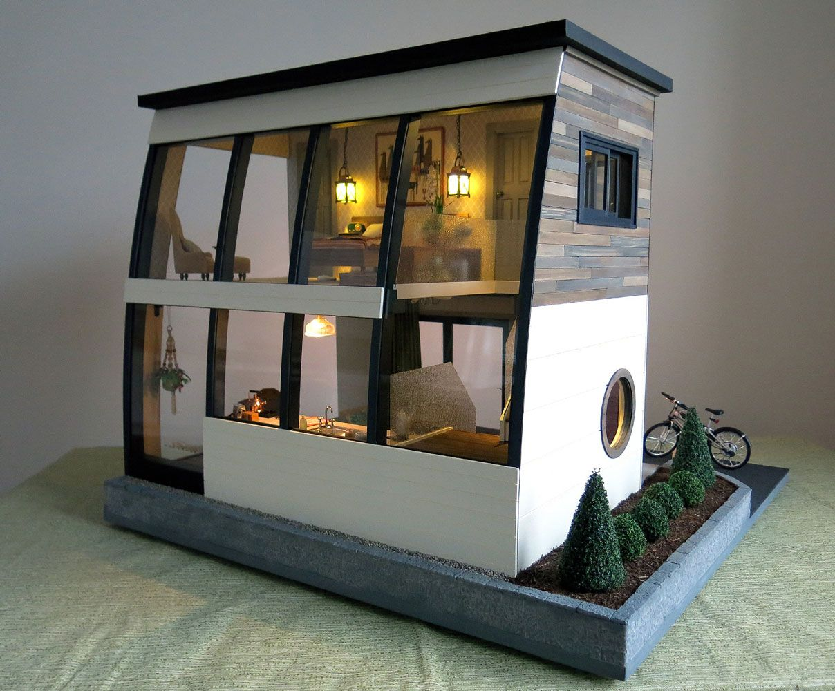 2nd Place Winner Otter Cove With Images Modern Dollhouse