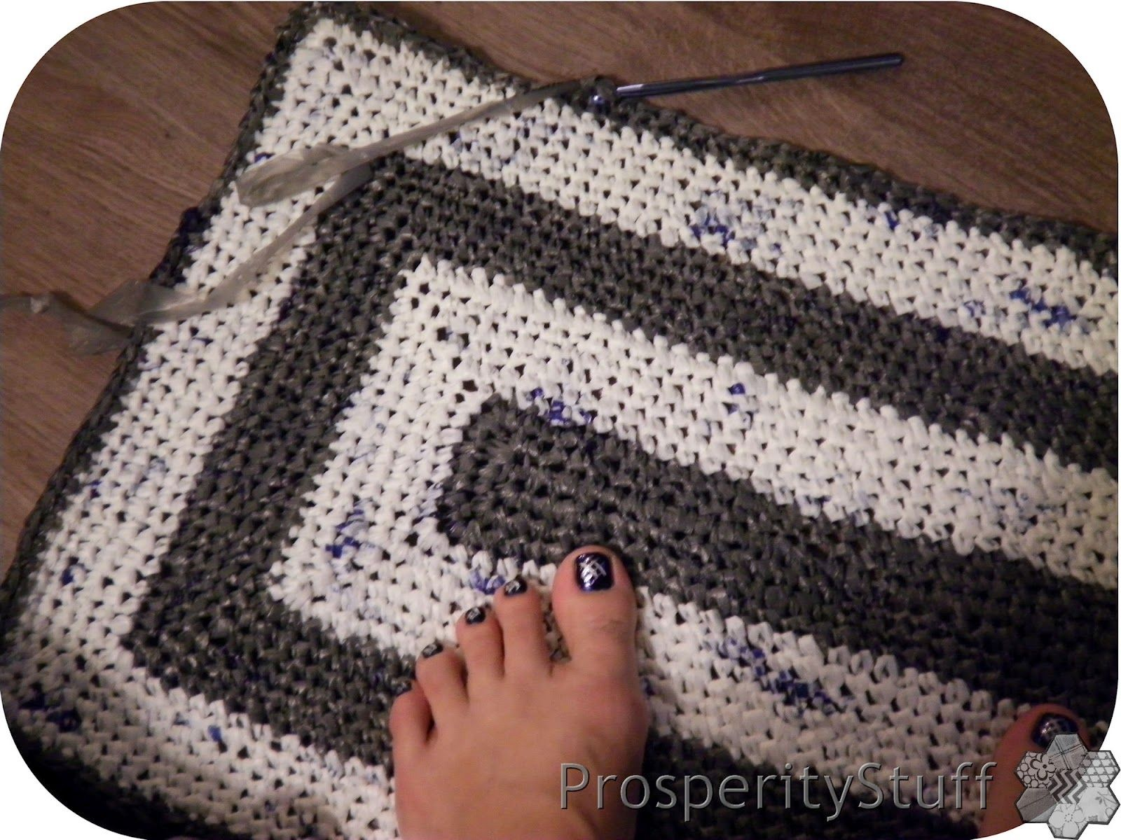 Prosperitystuff Quilts The Plarn Rug Plastic Bag Crochet Crochet Bead Crochet