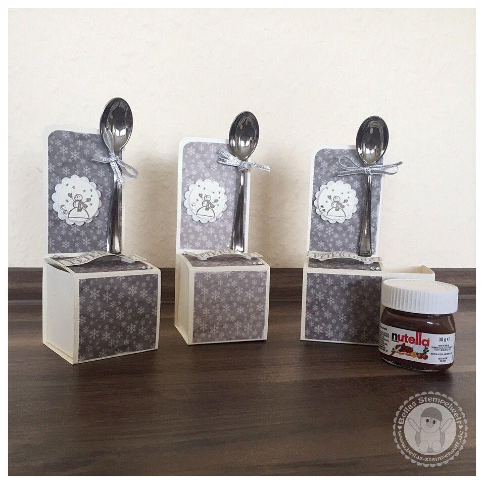 stampin 39 up mini nutella verpackung bellas stempelwelt box craft pinterest verpackung. Black Bedroom Furniture Sets. Home Design Ideas
