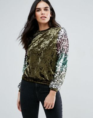 Love & Other Things Sequin Sweatshirt
