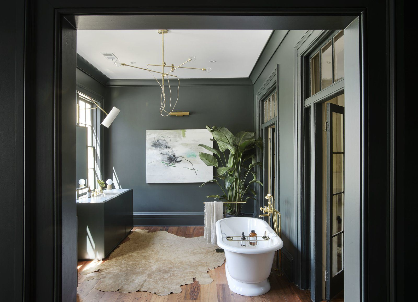 Photo of in an old charleston row house is elegantly