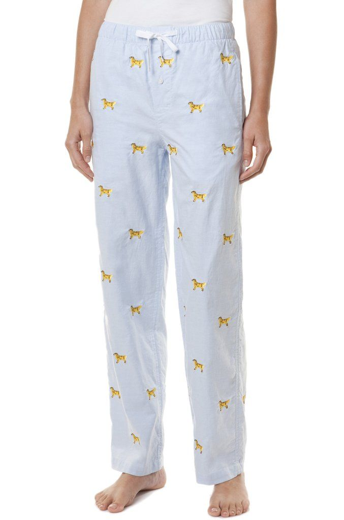 Golden Retriever Pajamas Preppy Outfits Seersucker Shirt Pj Pants