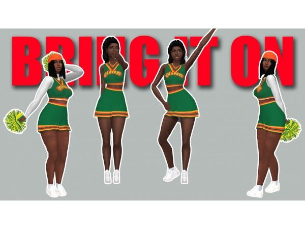 Bring It On Clovers Cheerleader Uniform by hbcu-black-gir #cheerleaderuniform