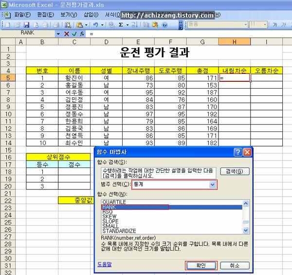 Rank  Excel Word Powerpoint