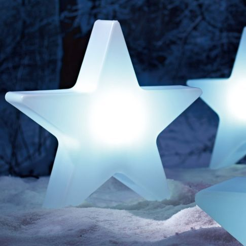 Deko-Objekt Stern Shiny, beleuchtet, outdoorgeeignet, Polyethylen, Durchmesser ca. 60 cm Katalogbild