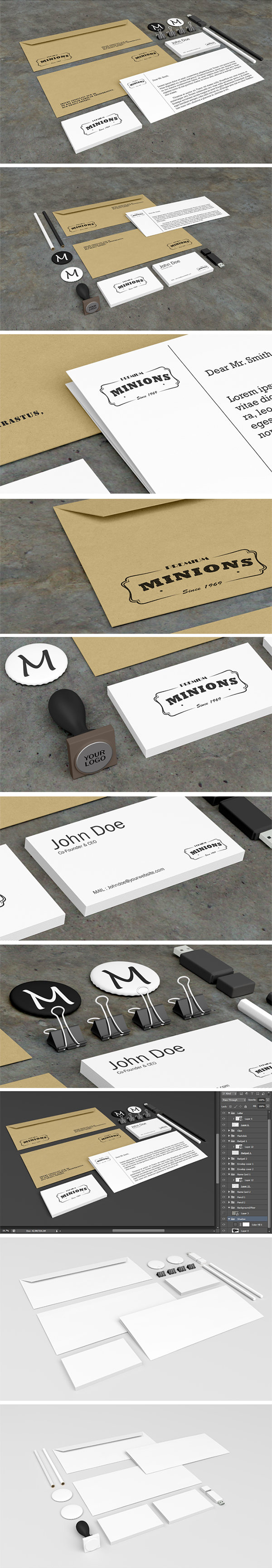 Free Stationery Mockups 305 MB graphiclist
