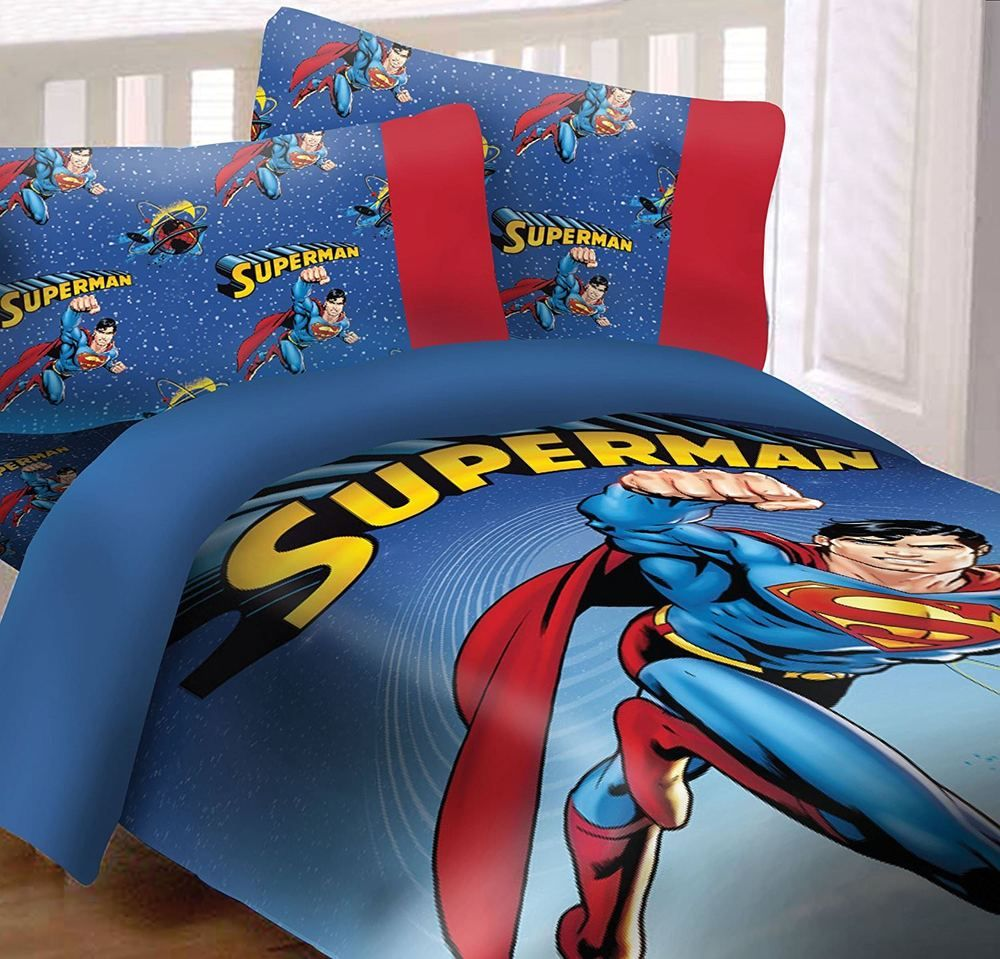 Details About Superman Universe Reversible Super Soft Luxury