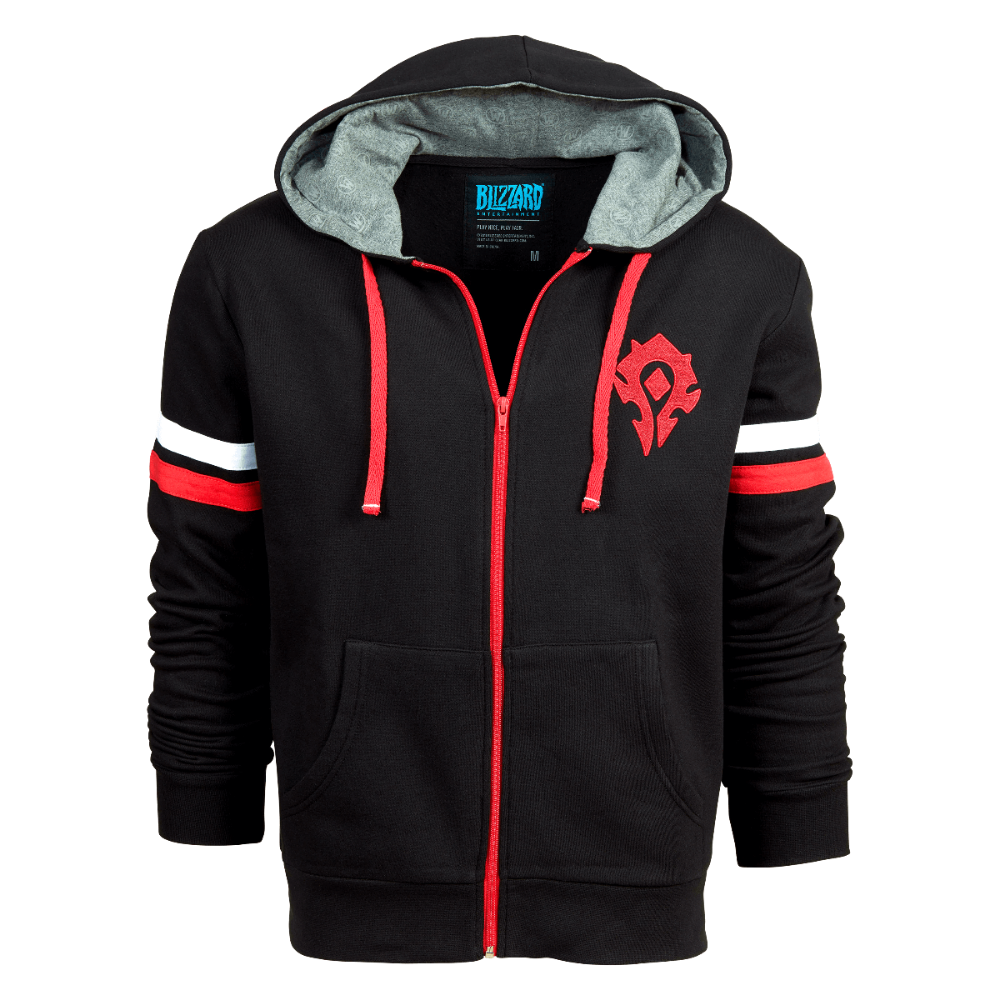 World of Warcraft Horde Athletic Zip Up Hoodie | Blizzard