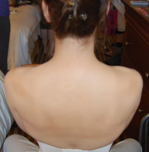Shoulder Tattoo Coverage Using Airbrush Makeup After
