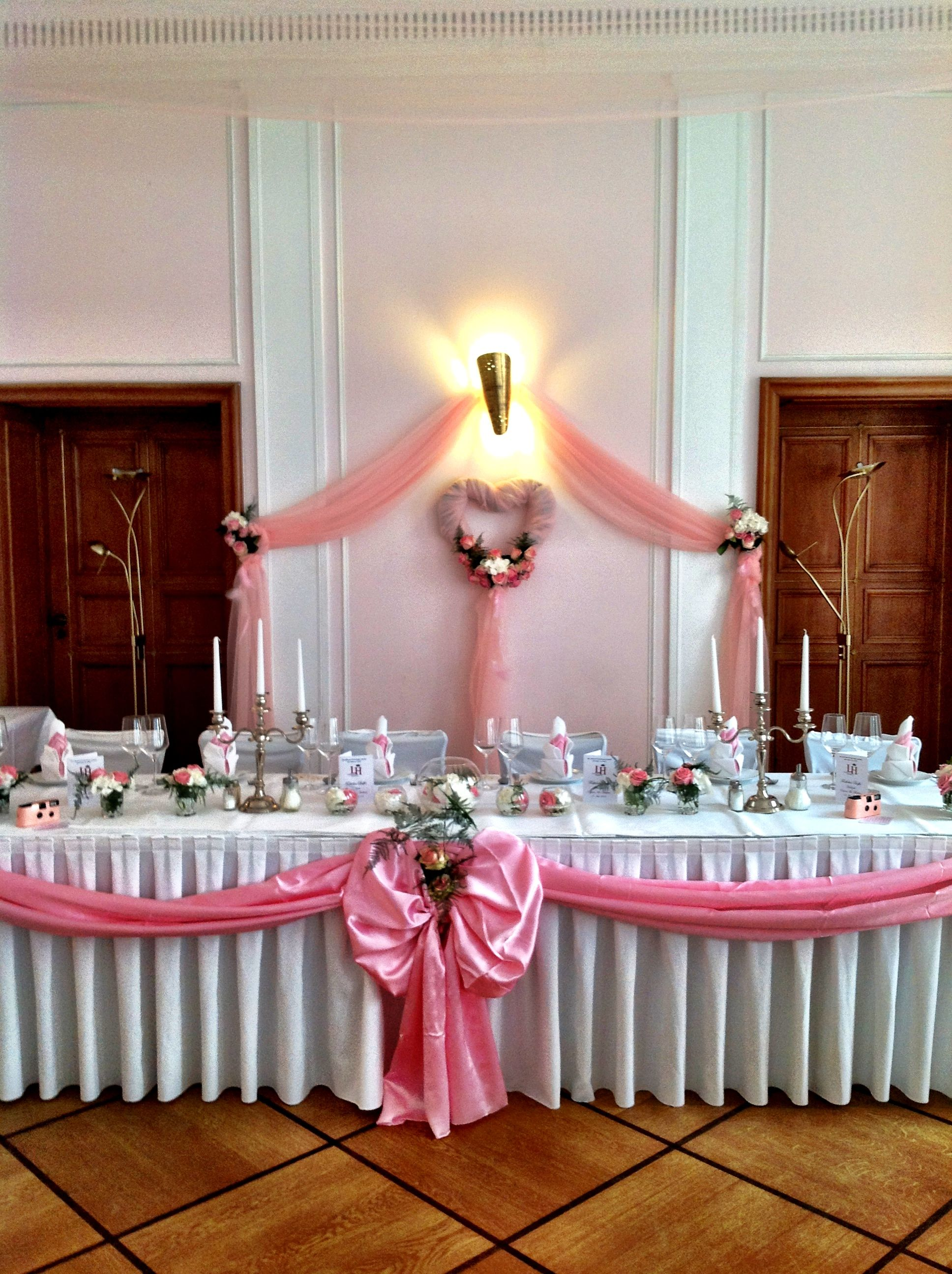 Wedding table decoration in pink and white made by princess dreams wedding table decoration in pink and white made by princess dreams junglespirit Image collections