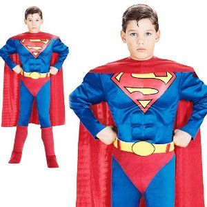 Deluxe Superman Costume With Padded Muscle Chest Jumpsuit  sc 1 st  Meningrey & Costume Idea Database - Meningrey
