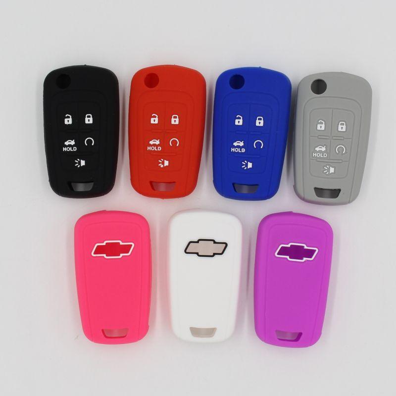 6colors Silicone Rubber Car Key Cover Case For Chevrolet Camaro Cruze Equinox Malibu Sonic Volt S Chevy Cruze Accessories Camaro Accessories Chevy Accessories