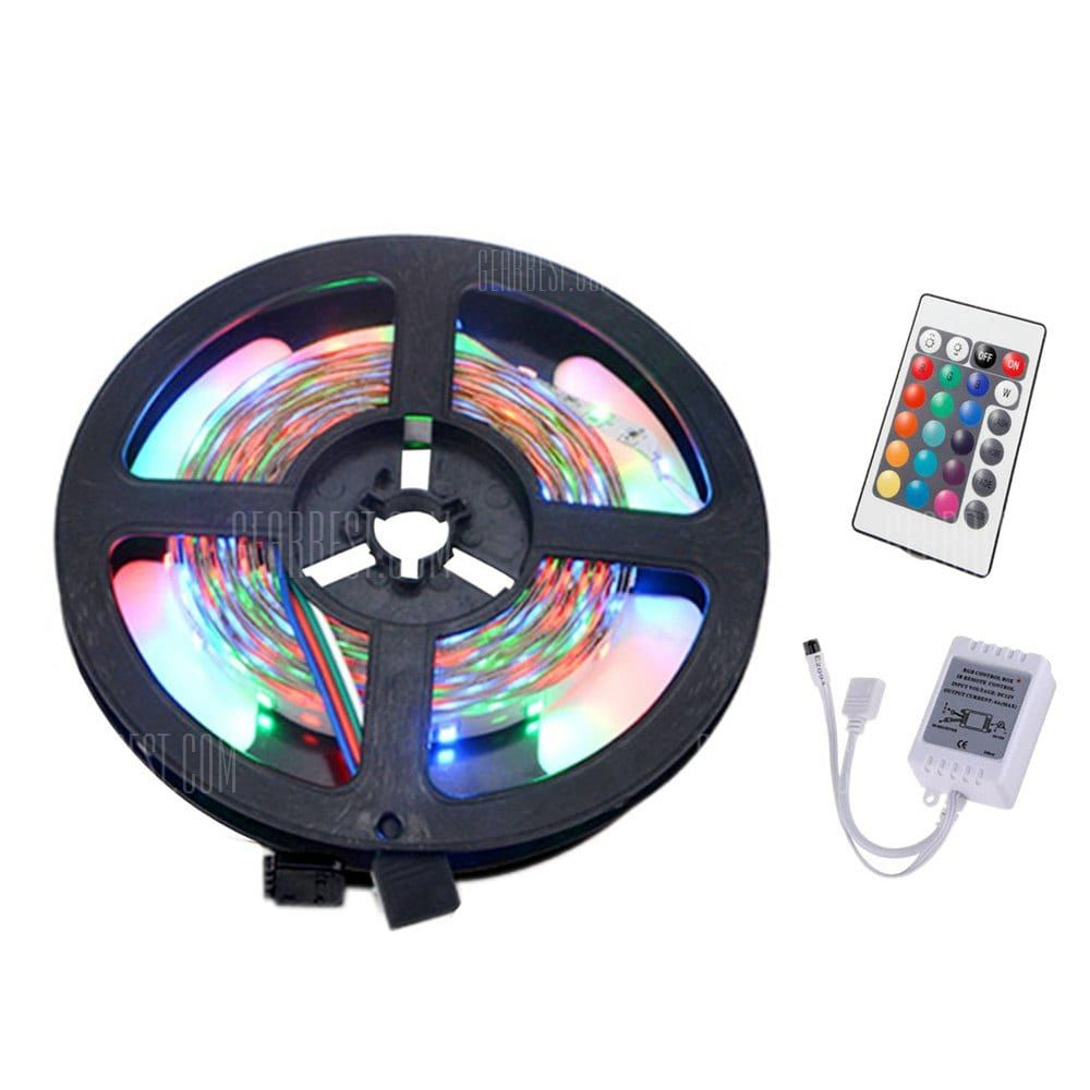 Led Light Strips With Remote New 🏷 🐼 Ywxlight 5M 3528Smd Nowaterproof 24Key Remote Control