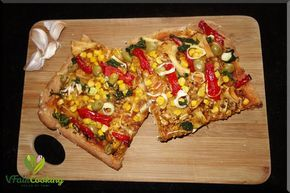 Gemüsepizza mit Dinkelteig / vegetable pizza with pastry made out of spelt #pizzateigmittrockenhefe