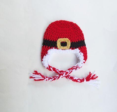Tampa Bay Crochet Free Crochet Pattern Baby Santa Earflap Hat