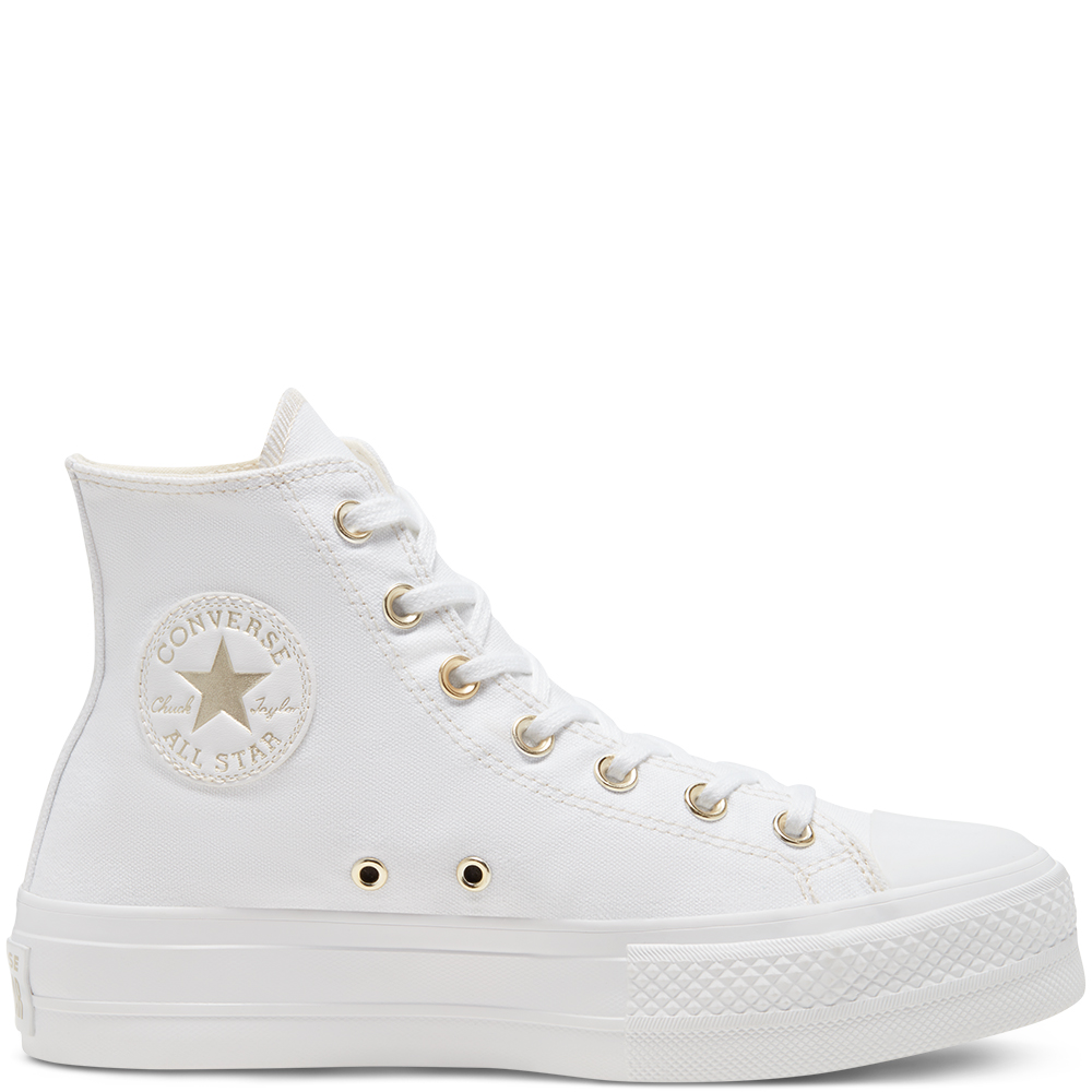 Elevated Gold Platform Chuck Taylor All